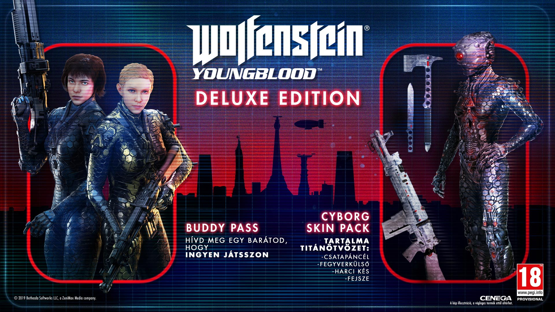Wolfenstein Youngblood Deluxe Edition PC játékszoftver 01