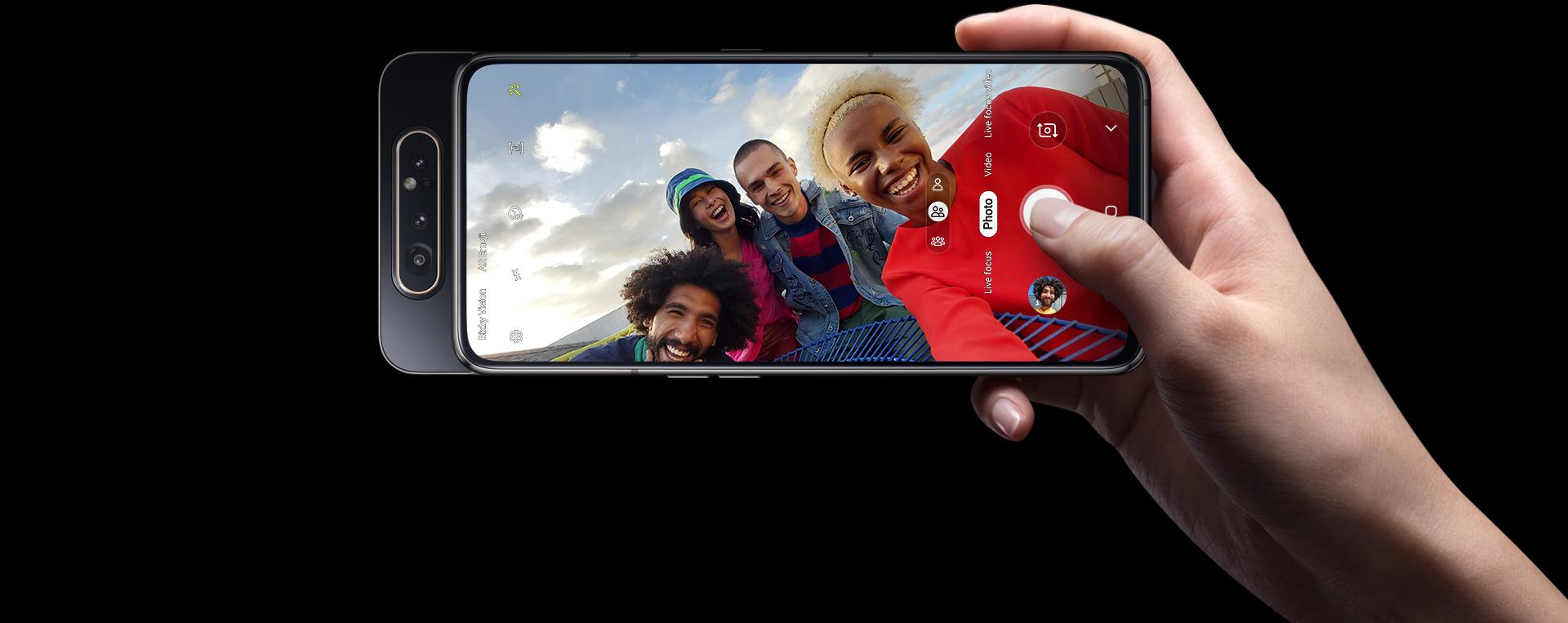 Samsung Galaxy A80 Dual SIM (SM-A805) kártyafüggetlen okostelefon, Black (Android) 02
