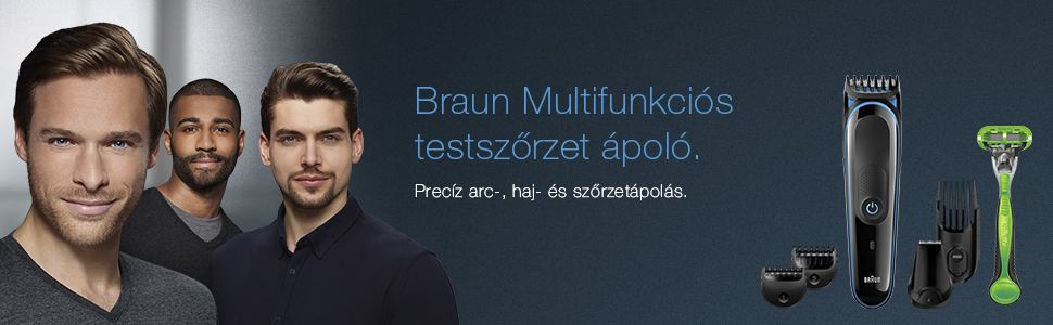 Braun multifunkciós testszőrzet ápoló
