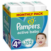 Pampers Active Baby pelenka Monthly Box, 4+-os méret, 152 db
