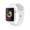 Apple Watch Series 3 GPS, 42mm, ezüst aluminium tok fehér sportszíjjal