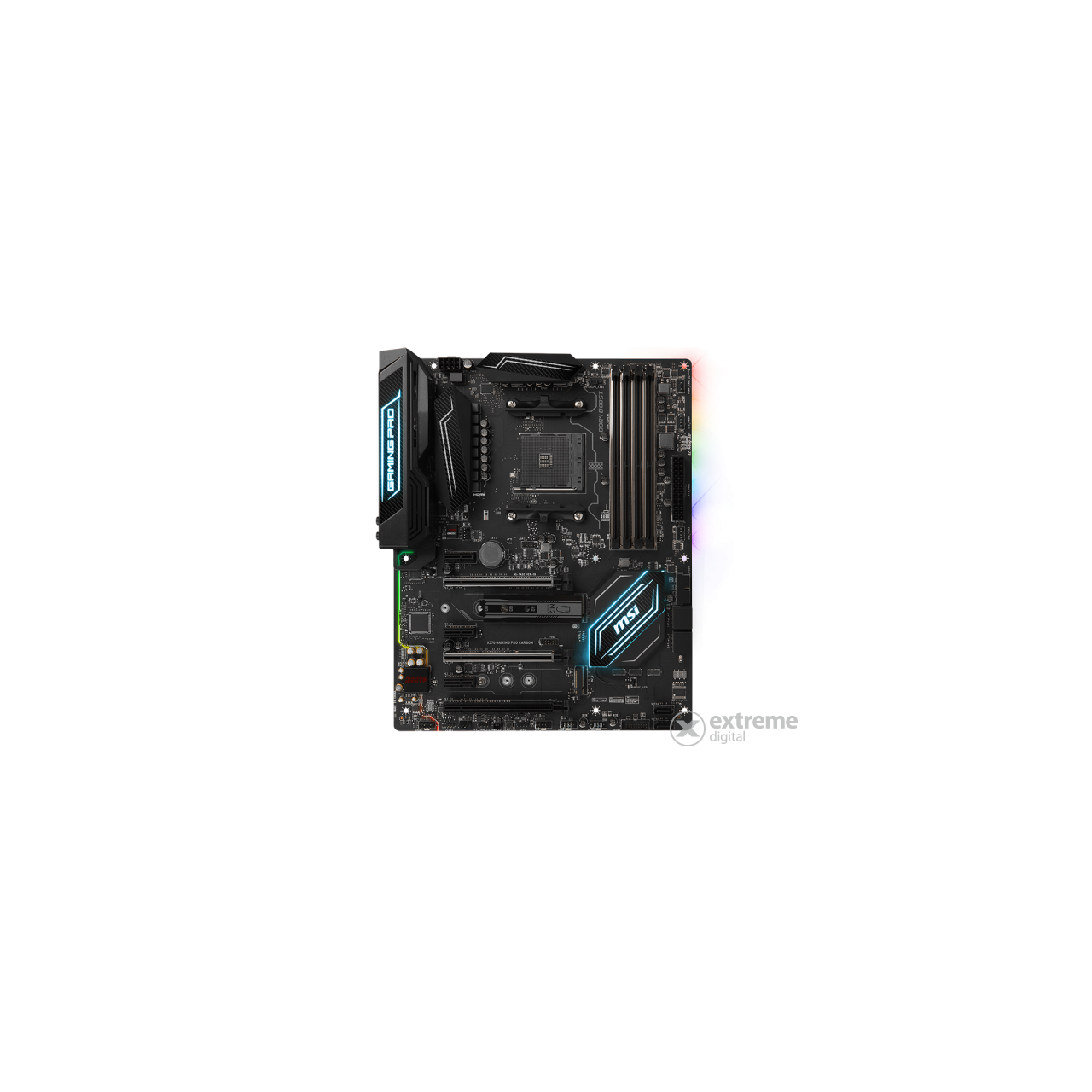 MSI AM4 X370 GAMING PRO CARBON AMD X370, ATX alaplap
