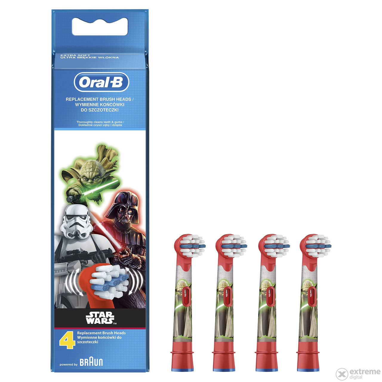Oral-B EB10-4 Stages Power Kids Ersatzköpfe, 4 Stk. - Star Wars