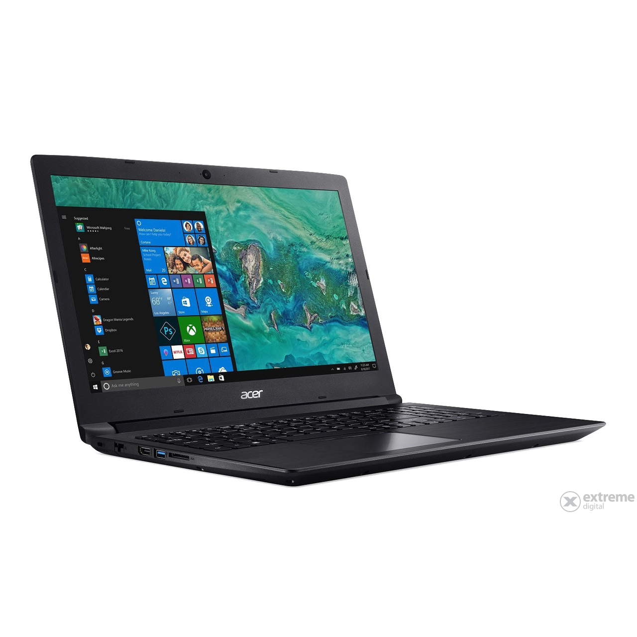 "Acer Aspire A315-51-38MU NX.H9EEU.011 15,6"" notebook, fekete + Win10"
