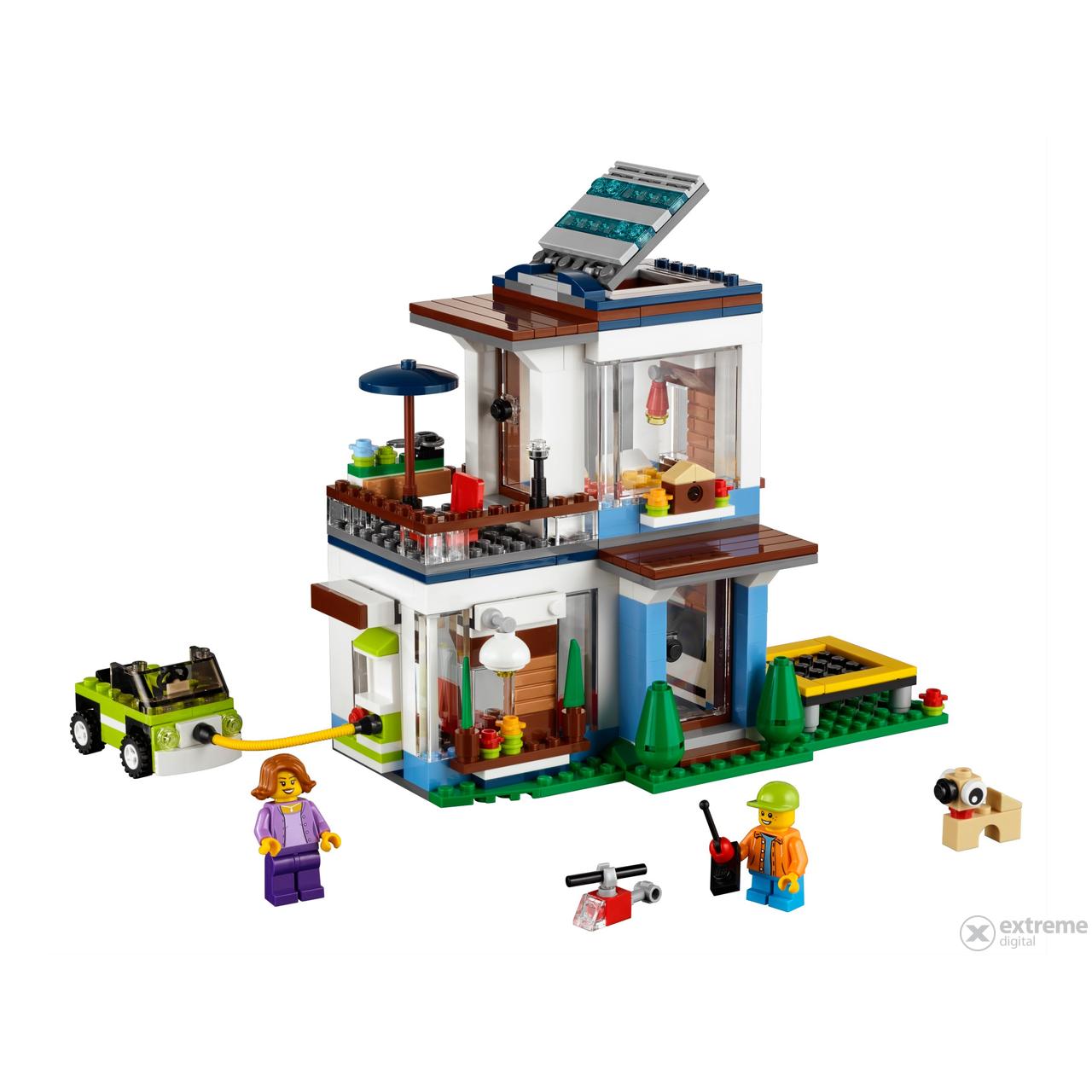Lego creator casa moderna 31068 extreme digital for Casa moderna lego