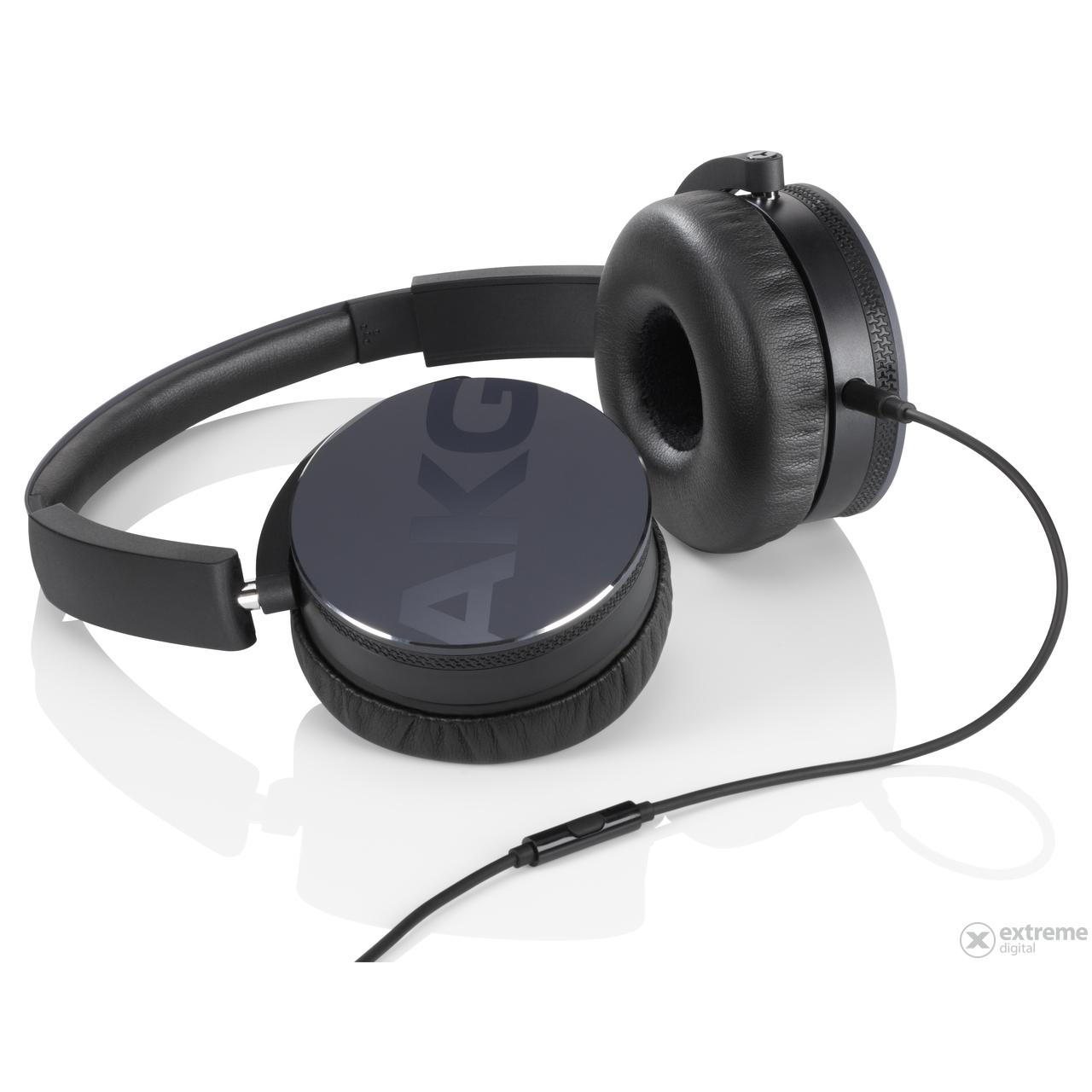 AKG Y50 fekete fejhallgató headset funkcióval  d2fc576ae6