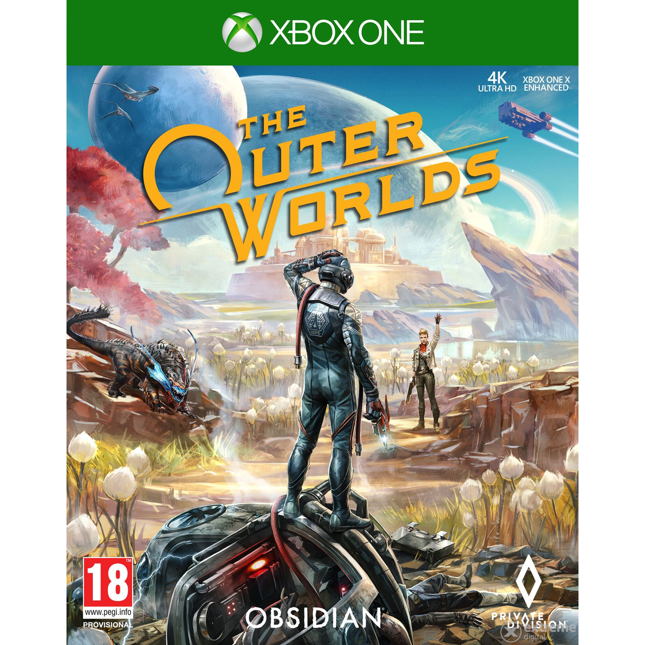Obsidian The Outer Worlds Xbox One játékszoftver
