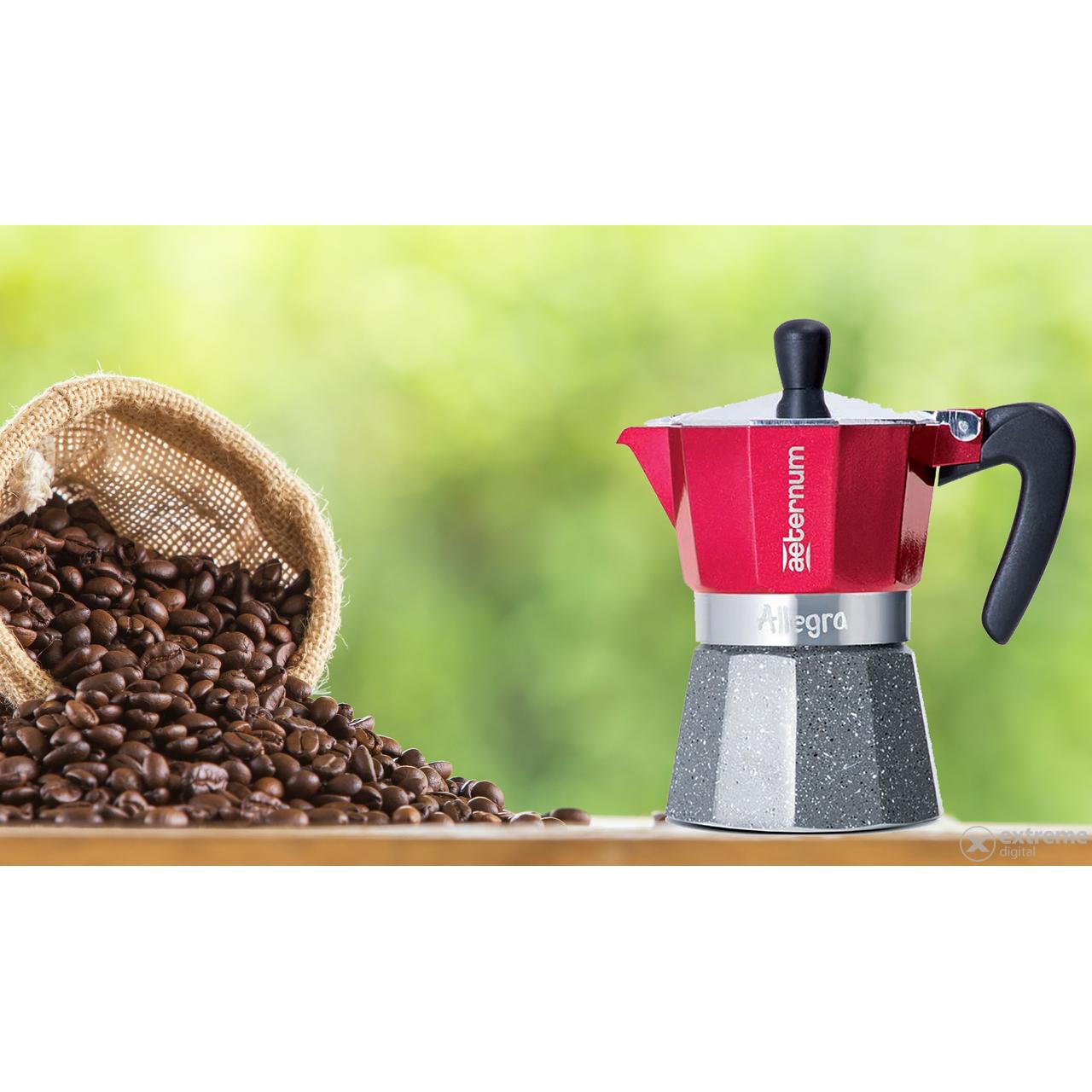 e4234e0579 Aeternum 5693 Allegra Petra 6 adagos kotyogós kávéfőző, piros ...