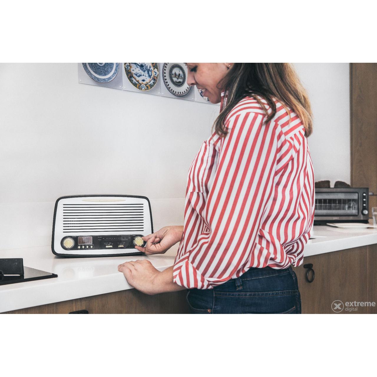 Lenco SR-02GY retro rádió  d674b609c6