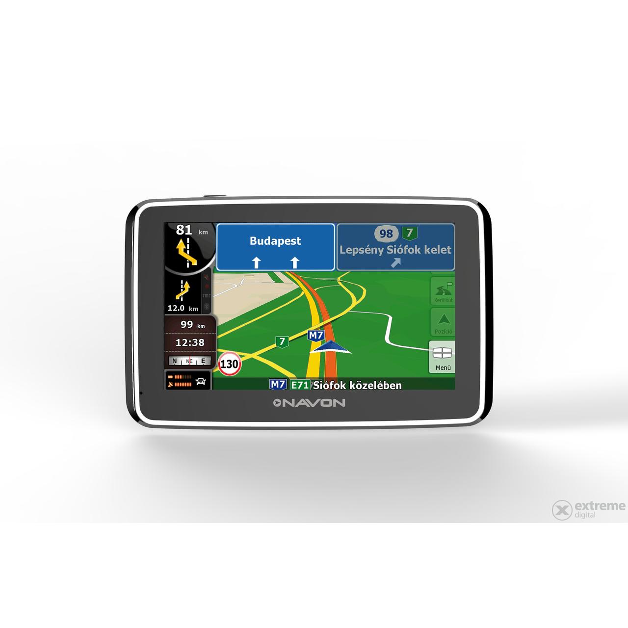 igo8 magyarország térkép frissítés Navon N490 Plus navigáció + iGO8 Magyarország térkép + 1 év  igo8 magyarország térkép frissítés