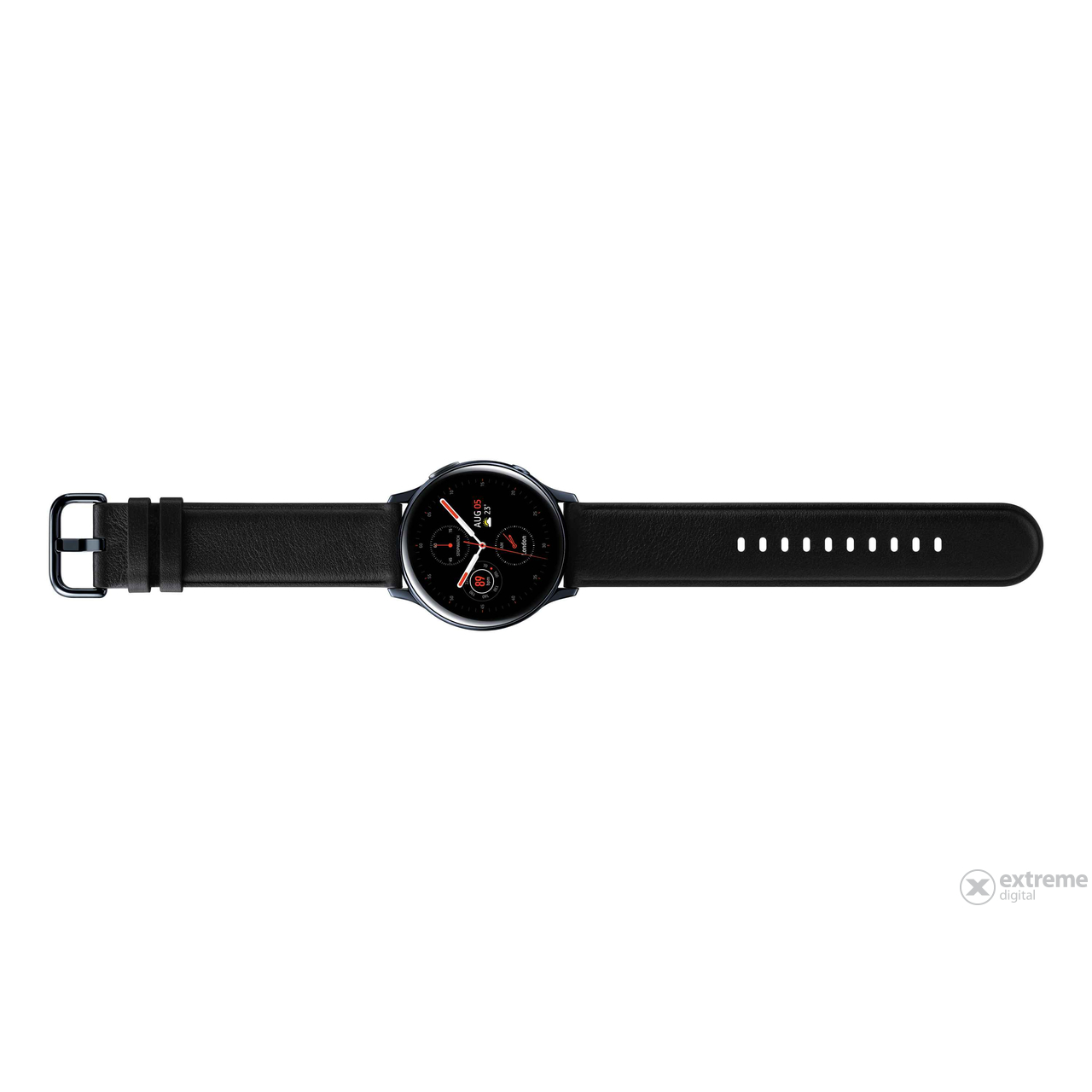 Samsung Galaxy Watch Active 2 okosóra (40mm, Stainless Steel), fekete - [Bontott]