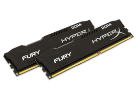 Kingston HyperX FURY Black 32GB DDR4 memória kit (HX432C18FBK2/32)