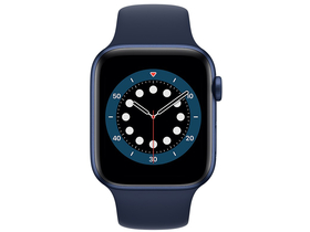 Apple Watch Serie 6 GPS, 44mm, blau