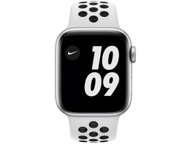 Apple Watch Nike Series 6 GPS, 40mm, Silver Aluminium Case with Pure Platinum/Black Nike Sport Band