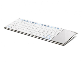 Tastatura wireless Rapoo E2700 Blade Slim touchpad, alb, layout ENG