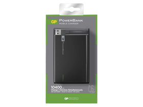 GP 1C10A power bank,10400 mAh, crni