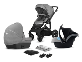 Kočárek KinderKraft Prime Lite grey 3in1