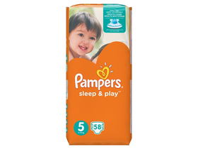 Pampers Sleep&Play Jumbo Pack pelene 5 Junior 58 komad