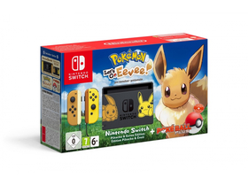 Nintendo Switch Limited Edition konzola + Pokémon: Lets Go Evee hra + Poké Ball Plus