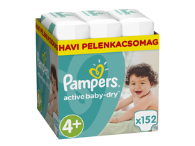 Scutece Pampers ActiveBaby Dry Maxi 4+ maxi plus, 152 buc.