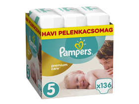 Pampers Premium Care plienky Monthly Box 5 junior, 136 ks