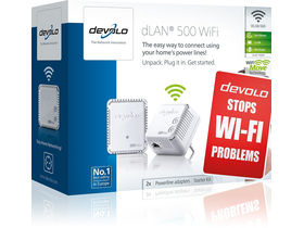 Devolo D 9089 dLAN 500 WiFi Starter Kit Powerline