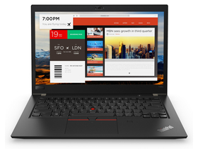 Notebook Lenovo ThinkPad T480s 20L7004PHV, negru + Windows 10 Pro (tastatura layout HU)