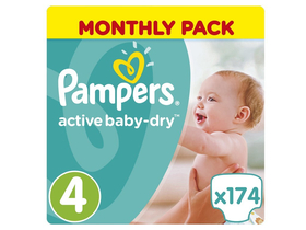 Pampers ActiveBaby Dry Monthly Box 4 maxi plienky, 174 ks