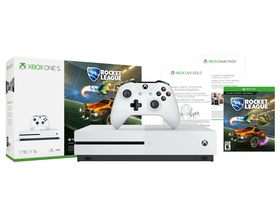 Microsoft Xbox One S 1TB + Rocket League Bundle (1 luna Game Pass si 3 luni Xbox Live Gold)