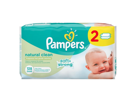 Pampers Natural Clean Feuchttücher, 2 x 64 Stk.