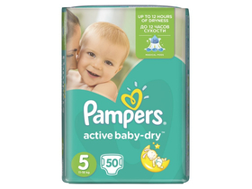 Пелени Pampers Active Baby-Dry  5 Junior, (11-18 кг)50 бр.
