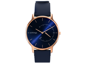 Smartwatch Withings Move Timeless Chic, albastru/Rose Gold