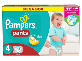 Pampers Pants pelenka Mega Box maxi, 104 db