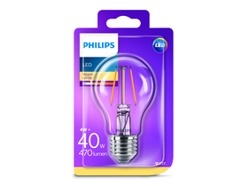 Bec LED Philips (E27, 470 Lm, 2.700K, 4 W, alb cald)