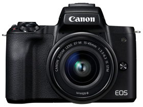 Canon EOS M50 fotoaparat kit (15-45mm IS STM objektiv), črn
