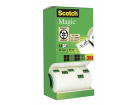 Bandă adezivă 3M/SCOTCH 19mm x 33m Magic Tape 12+2 buc.