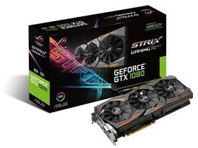 Placa video Asus nVidia GTX 1080 8GB GDDR5X - STRIX-GTX1080-8G-GAMING
