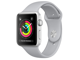 Apple Watch Series 3 GPS, 38mm, Carcasa Silver Aluminium 38mm, Fog Sport Band (mqku2mp/a)