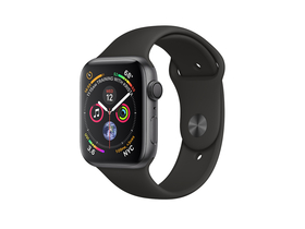 Apple Watch Series 4 GPS, 44mm, siv alumnijiast ovitek s črnim športnim pasom