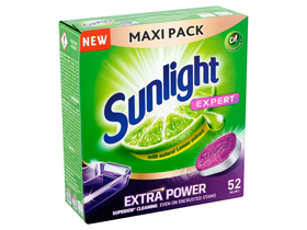 Sunlight All in One Expert Extra Powe limun, tablete za perilice suđa, 52  kom