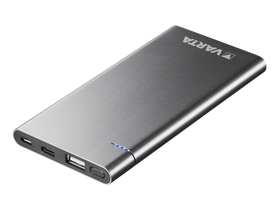 Power bank Varta Slim Powerpack  6000 mAh, argintiu