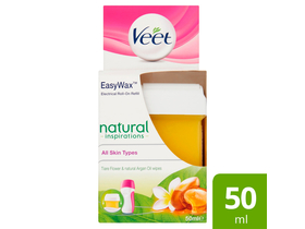 Veet Easy Wax Natural Inspirations Tiaré Blumen& Argan Oil Nachfüllpack Spa Wax Wachswärmer