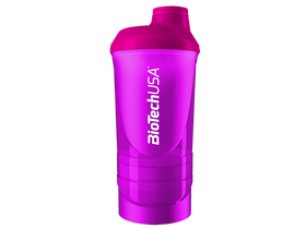 BioTech USA Wave+ Shaker 600ml (+200ml+150ml), magenta