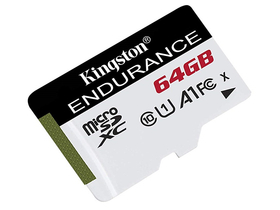 Kingston High Endurance 64GB microSDHC paměťová karta, Class 10, A1, UHS-I (SDCE/64GB)
