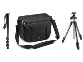 Manfrotto Compact Advanced monopod stativ s kulovou hlavou+290 monopod Shoulder bag 40 brašňa