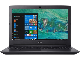 "Acer Aspire A315-51-38V8 NX.H9EEU.006 15,6"" notebook, fekete + Win10"