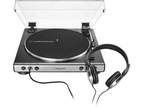 Pickup Audio-Technica AT-LP60XHPGM Gri+ Casca ATH-250AV