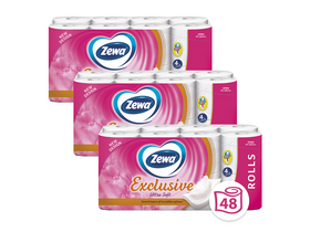 Zewa Exclusive Ultra Soft 4-lagiges Toilettenpapier, 3x16 Rollen