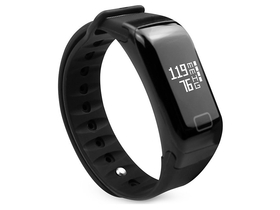 Bratara fitnes cu masurare puls Media-Tech MT854 Active-Band, negru