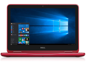 "Dell Inspiron 3168_240590 2in1 11.6"" notebook, piros + Windows 10 Home"